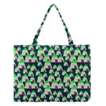 Edgy Cartoon Small Houses Pink Green Purple Multi Medium Tote Bag