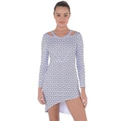 Seamless Pattern Monochrome Repeat Asymmetric Cut Out Shift Dress by Nexatart
