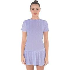 Zigzag Chevron Thin Pattern Drop Hem Mini Chiffon Dress