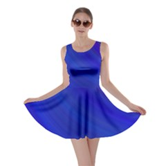 Blue Background Abstract Blue Skater Dress