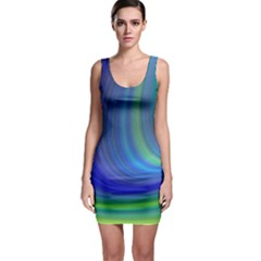 Space Design Abstract Sky Storm Bodycon Dress