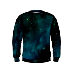 Space All Universe Cosmos Galaxy Kids  Sweatshirt by Nexatart