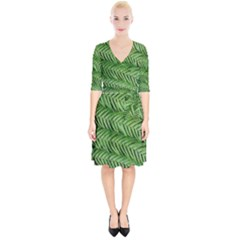 Fern Wrap Up Cocktail Dress by greenthanet