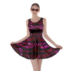 Skin2 Black Marble & Burgundy Marble (r) Skater Dress by trendistuff
