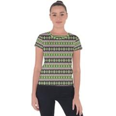Fancy Tribal Border Pattern 17a Short Sleeve Sports Top  by MoreColorsinLife