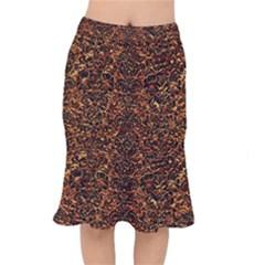 Damask2 Black Marble & Copper Foil (r)2 Black Marble & Copper Foil (r) Mermaid Skirt by trendistuff