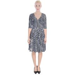Monochrome Wrap Up Cocktail Dress by greenthanet