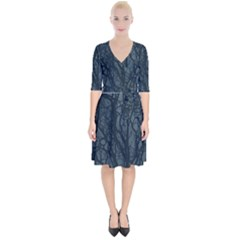 Teal Branches Wrap Up Cocktail Dress by greenthanet