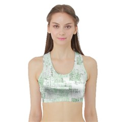 Abstract Art Sports Bra With Border