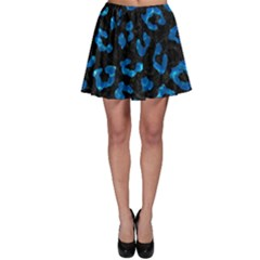 Skin5 Black Marble & Deep Blue Water (r) Skater Skirt by trendistuff