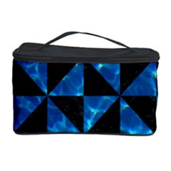 Triangle1 Black Marble & Deep Blue Water Cosmetic Storage Case by trendistuff