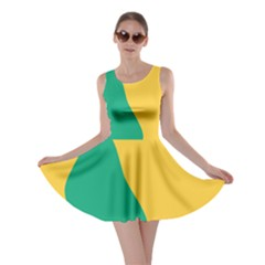Yellow Green Blue Skater Dress by Mariart