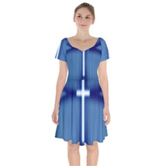 Blue Cross Christian Short Sleeve Bardot Dress by Mariart