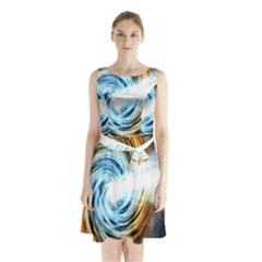 A Blazar Jet In The Middle Galaxy Appear Especially Bright Sleeveless Waist Tie Chiffon Dress by Mariart