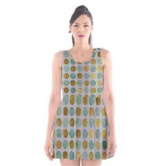 Green And Golden Dots Pattern                       Scoop Neck Skater Dress by LalyLauraFLM