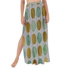 Green And Golden Dots Pattern                          Maxi Chiffon Tie Up Sarong by LalyLauraFLM