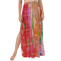Colorful Watercolors Pattern                          Maxi Chiffon Tie Up Sarong by LalyLauraFLM
