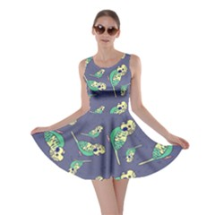 Canaries Budgie Pattern Bird Animals Cute Skater Dress by Mariart