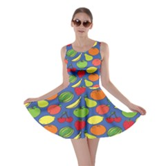 Fruit Melon Cherry Apple Strawberry Banana Apple Skater Dress by Mariart