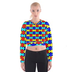 Game Puzzle Cropped Sweatshirt by Mariart