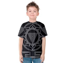 Kali Yantra Inverted Kids  Cotton Tee by Mariart