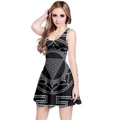 Kali Yantra Inverted Reversible Sleeveless Dress by Mariart