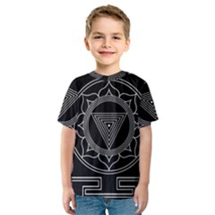 Kali Yantra Inverted Kids  Sport Mesh Tee by Mariart