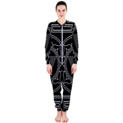 Kali Yantra Inverted Onepiece Jumpsuit (ladies)  by Mariart