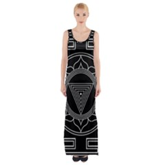 Kali Yantra Inverted Maxi Thigh Split Dress by Mariart