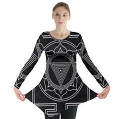 Kali Yantra Inverted Long Sleeve Tunic  by Mariart