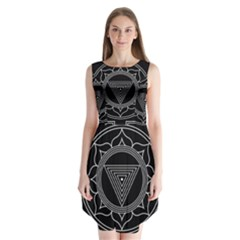 Kali Yantra Inverted Sleeveless Chiffon Dress   by Mariart