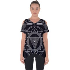 Kali Yantra Inverted Cut Out Side Drop Tee by Mariart