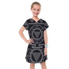 Kali Yantra Inverted Kids  Drop Waist Dress by Mariart
