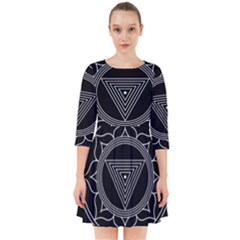 Kali Yantra Inverted Smock Dress by Mariart