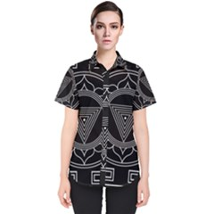 Kali Yantra Inverted Women s Short Sleeve Shirt by Mariart