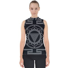 Kali Yantra Inverted Shell Top by Mariart