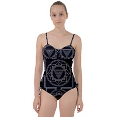 Kali Yantra Inverted Sweetheart Tankini Set by Mariart