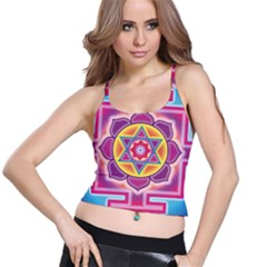 Kali Yantra Inverted Rainbow Spaghetti Strap Bra Top by Mariart