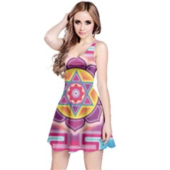 Kali Yantra Inverted Rainbow Reversible Sleeveless Dress by Mariart