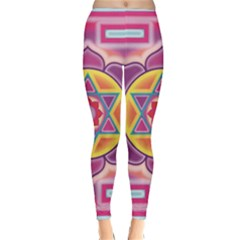 Kali Yantra Inverted Rainbow Classic Winter Leggings by Mariart