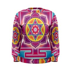 Kali Yantra Inverted Rainbow Women s Sweatshirt by Mariart
