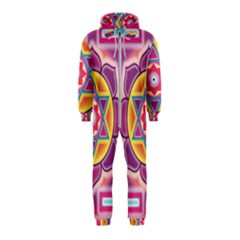 Kali Yantra Inverted Rainbow Hooded Jumpsuit (kids) by Mariart