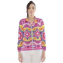 Kali Yantra Inverted Rainbow Wind Breaker (women) by Mariart