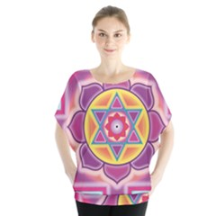 Kali Yantra Inverted Rainbow Blouse by Mariart