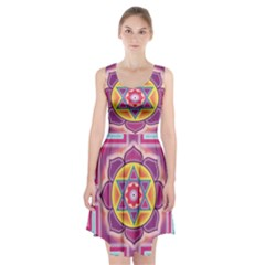 Kali Yantra Inverted Rainbow Racerback Midi Dress by Mariart