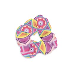 Kali Yantra Inverted Rainbow Velvet Scrunchie by Mariart