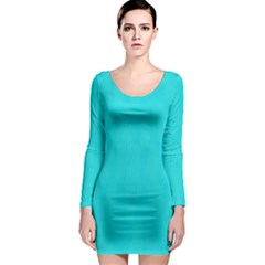 Line Blue Long Sleeve Bodycon Dress by Mariart
