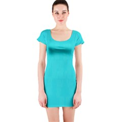 Line Blue Short Sleeve Bodycon Dress by Mariart