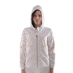 Rosette Flower Floral Hooded Wind Breaker (women)