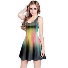 Sound Colors Rainbow Line Vertical Space Reversible Sleeveless Dress by Mariart